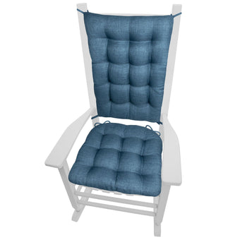 Rave Pacific Blue Indoor/Outdoor Rocking Chair Cushions | Barnett Home Decor | Blue