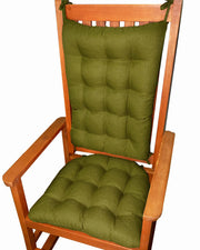 Rave Sage Green Indoor/Outdoor Rocking Chair Pads | Barnett Home Decor | Green