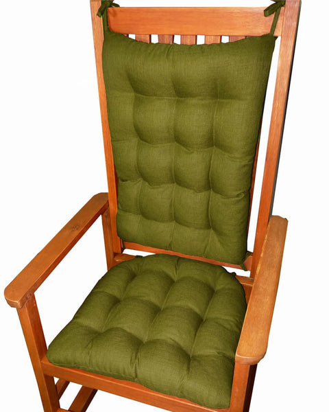 Rave Sage Green Porch Rocker Cushions Latex Foam Fill