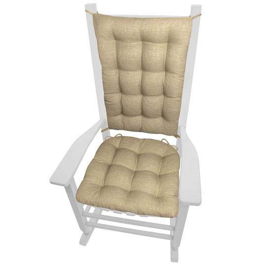 Rave Sand Indoor/Outdoor Rocking Chair Cushions - Barnett Home Decor - Beige - Tan
