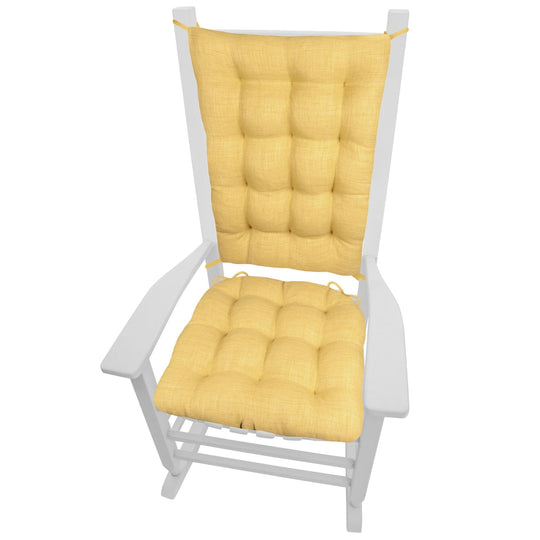 Rave Yellow Gold Indoor/Outdoor Rocking Chair Cushions | Barnett Home Decor | Yellow