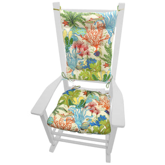 Splish Splash Indoor/Outdoor Rocking Chair Cushions | Barnett Home Decor | Blue, Green, Red, & Orange