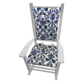 Sylvan Navy Blue Rocking Chair Cushions - Indoor/Outdoor - Barnett Home Decor
