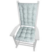 Tibet Spa Rocking Chair Cushions | Barnett Home Decor | Sea Green & Ocean Blue