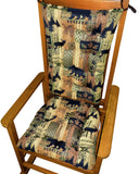 Woodlands Brentwood Rocking Chair Pads - Barnett Home Decor - Bronze, Beige, & Gold