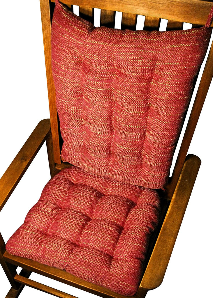 ... Reversible Rocking Chair Cushions Brisbane Red | Barnett Home Decor