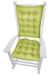 Rave Pear Green Indoor/Outdoor Rocking Chair Cushions - Barnett Home Decor - Green