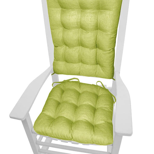 Rave Pear Green Porch Rocker Cushions - Latex Foam Fill - Fade Resistant