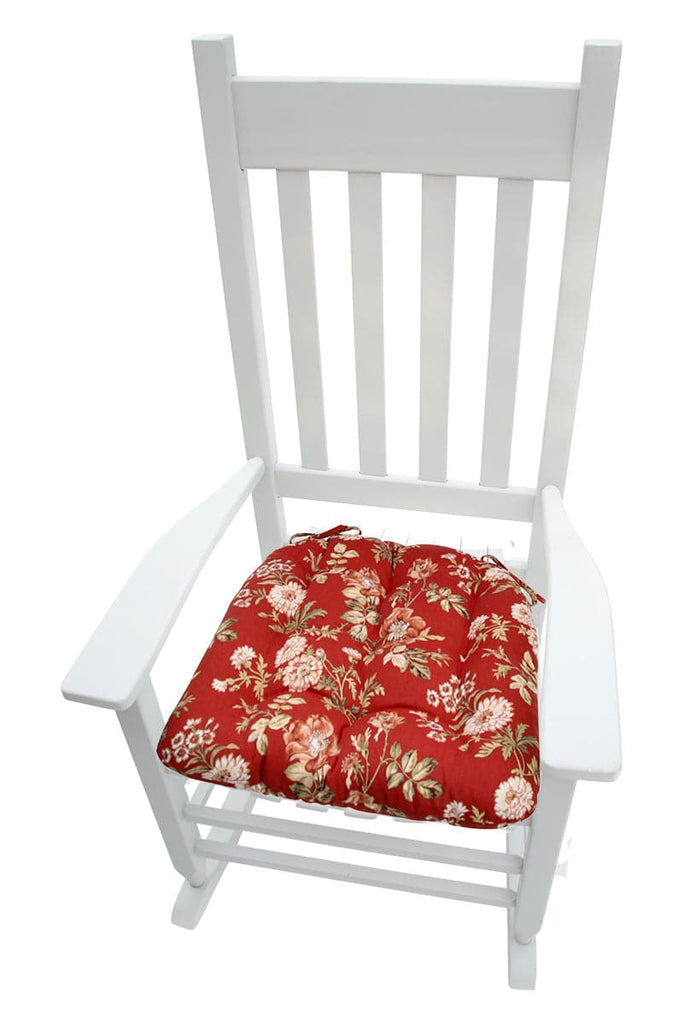 Magnificent Farrell Red Wild Rose Rocking Chair Cushions Latex Foam Fill Made In Usa Xxl Uwap Interior Chair Design Uwaporg
