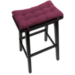 Micro-Suede Claret Red Saddle Stool Cushions - Gaucho Stool  / Satori Seat Cushions