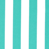 Sea Shore Stripe I/O Aqua Porch Rocker Cushions - Latex Foam Fill
