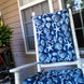 Shoreline Navy Blue Porch Rocker Cushions Latex Foam Fill 1