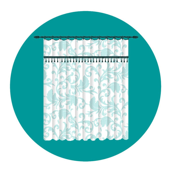 "72"" Fabric Shower Curtains - Mildew Resistant"