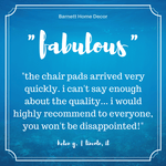 Splish Splash Indoor/Outdoor Dining Chair Cushions Customer Testimonial