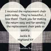 Buffalo Check Black & White Dining Chair Cushions Customer Testimonial