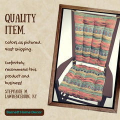 Southwest Phoenix Sunset Rocking Chair Cushions Customer Testimonial