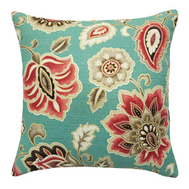 Atherton Aqua Throw Pillow | Barnett Home Decor