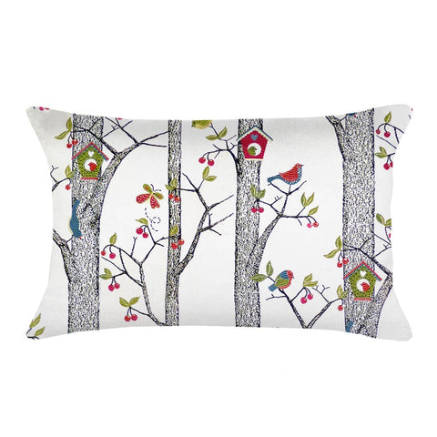 Lancy Birdhouse Lumbar Pillow | Barnett Home Decor