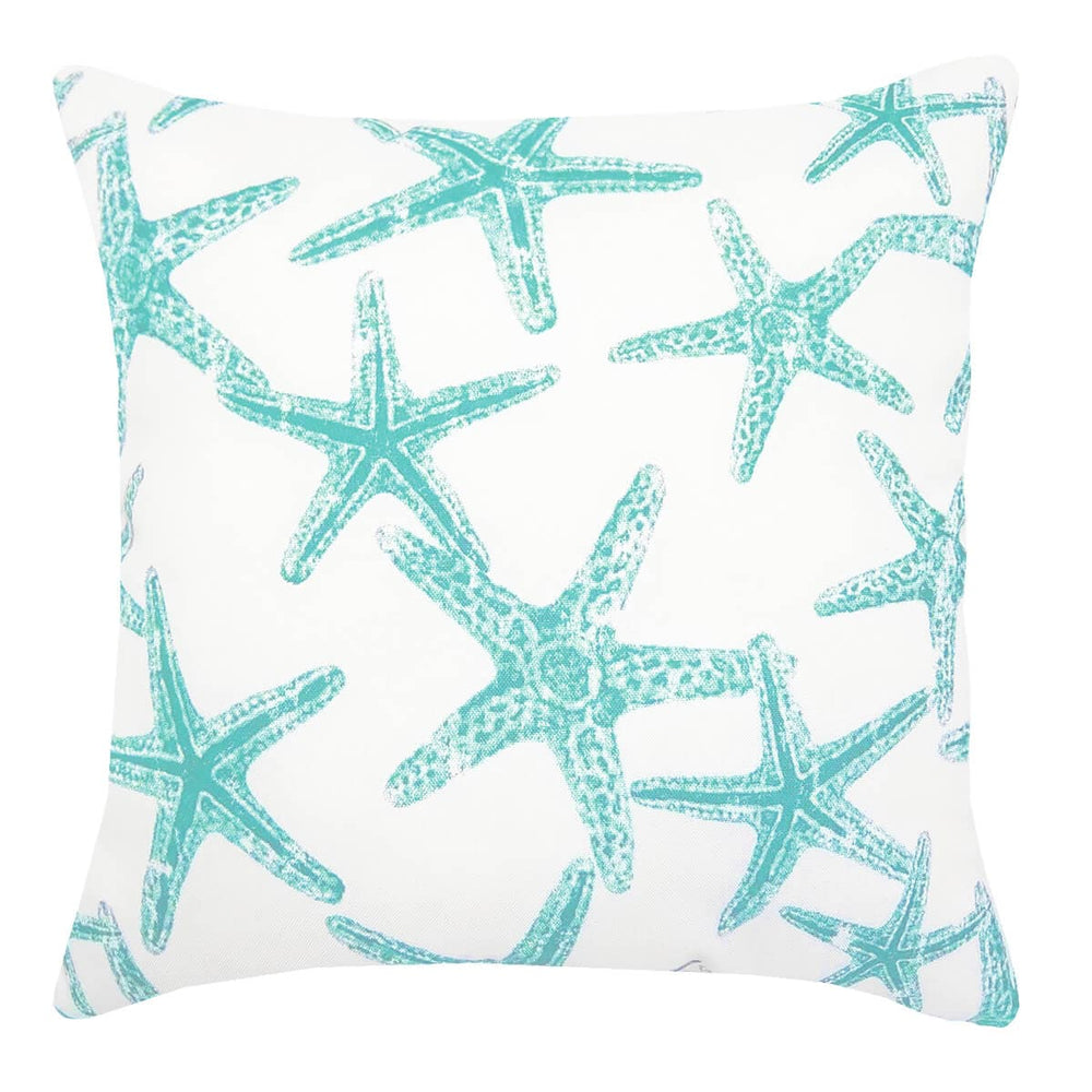 Sea Shore Starfish Aqua Throw Pillow | Barnett Home Decor