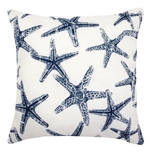 Sea Shore Starfish Navy Throw Pillow | Barnett Home Decor