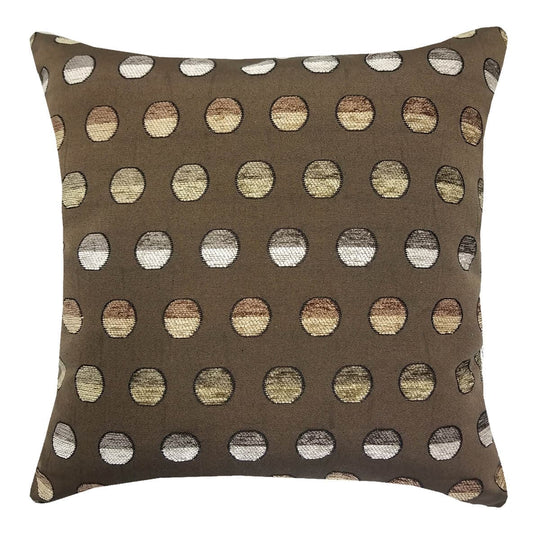 Sweet Spot Mocha Throw Pillow | Barnett Home Decor