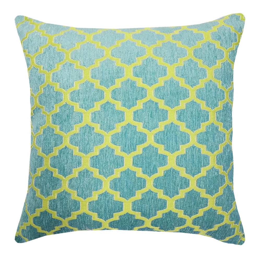 Keaton Aqua Throw Pillow | Barnett Home Decor