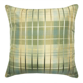 Silk Plaid Aqua Throw Pillow | Barnett Home Decor