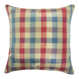Silky Plaid Winterberry Throw Pillow | Barnett Home Decor