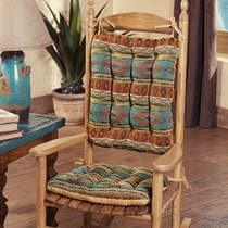 Saguaro Trail Rocking Chair Cushions - Latex Foam Fill - Reverses to MS
