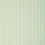 Ticking Stripe Aqua Cafe Valance - Straight Tailored Window Treatment