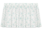 Sea Shore Starfish Aqua & White Tie-Up Valance or Tier Curtain Window Treatments - Beach Decor