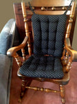Tiffany Black Brocade Rocking Chair Cushion - Barnett Home Decor - Black