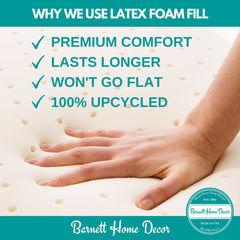 Why We Use Latex Foam Fill - Barnett Home Decor