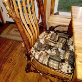 Woodlands Peters Cabin Dining Chair Cushions - Barnett Home Decor - Taupe, Brown, & Black