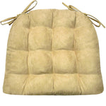 Micro-Suede Camel Dining Chair Cushions - Barnett Home Decor - Tan