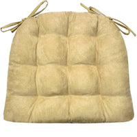 Micro-Suede Camel Dining Chair Cushions - Barnett Home Decor - Tan - Khaki - Sand