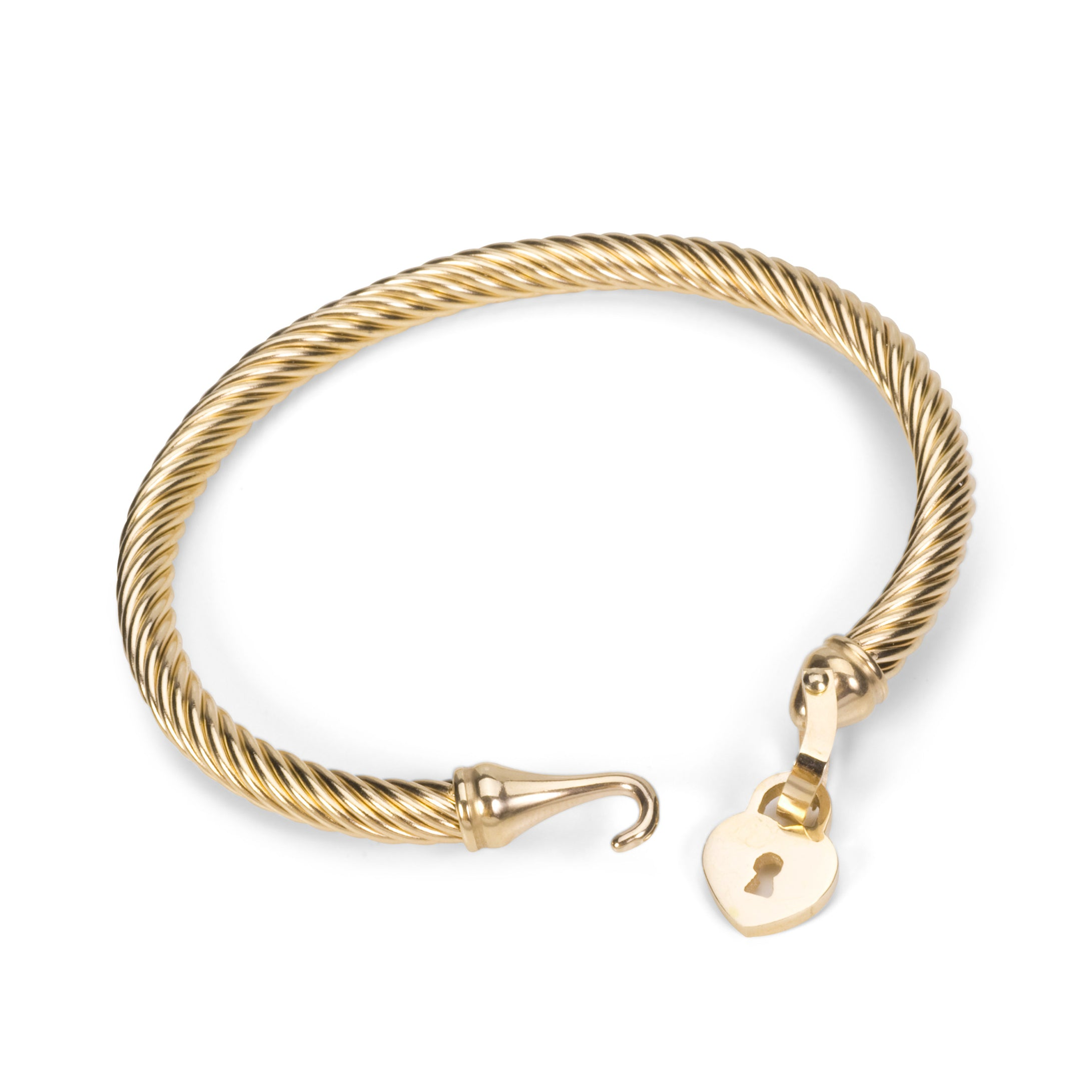 yellow gold mondier jewellery bracelet heart with toggle charm in jewelry
