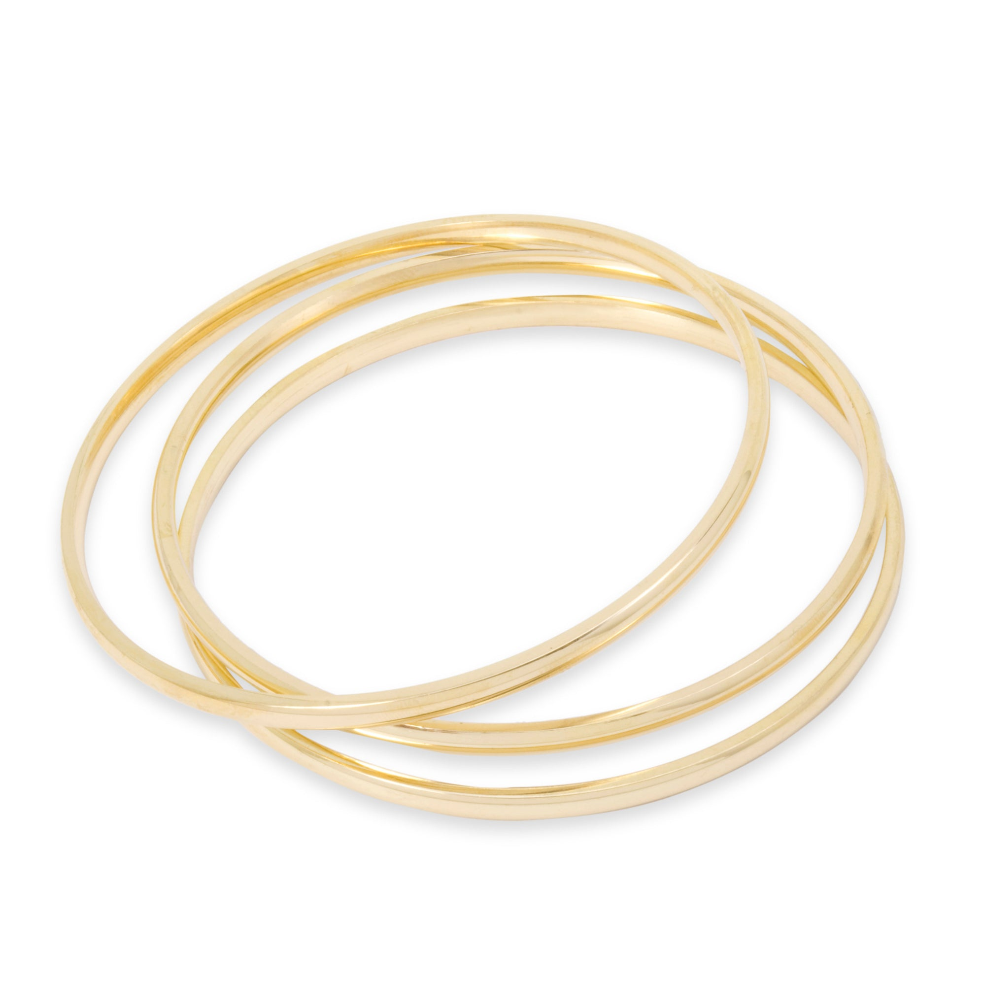 estate inch yellow rope bangle bracelet bangles gold in inches and