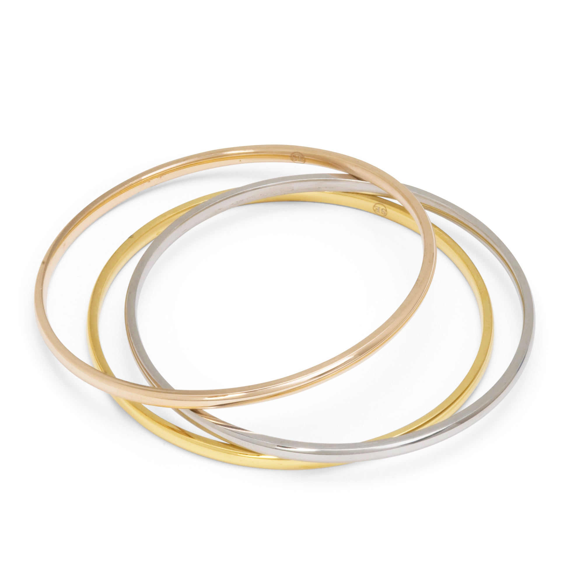 gold circles bangles charm bracelet bangle with