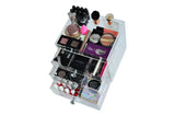 "Clear Acrylic Makeup Organizer ""DazBox"" Crystal Knobs Vanity Cosmetic Storage Beauty Drawer"