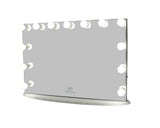 Hollywood Makeup Vanity Mirror XL All Glass with Dimmer, Tabletop or Wall Mounted Vanity, LED Bulbs Included