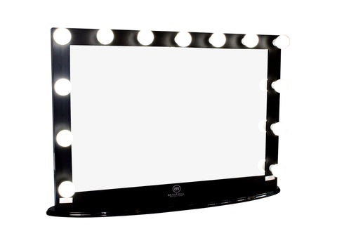 Hollywood Makeup Vanity Mirror XL Black With Dimmer, Tabletop Or Wall  Mounted Vanity, LED