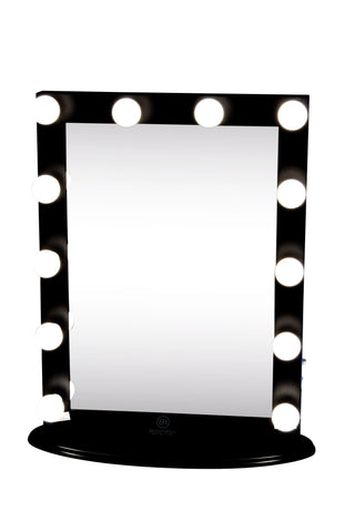 Hollywood makeup vanity mirror black with dimmer tabletop or wall hollywood makeup vanity mirror black with dimmer tabletop or wall mounted vanity led bulbs aloadofball Images