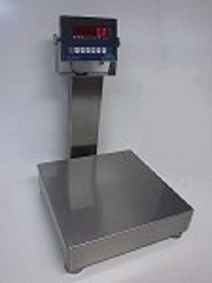 "SWS-7611SS-16 Wash-Down 16"" X 16"" 400 Lb NTEP Legal For Trade All Stainless Bench Scale"
