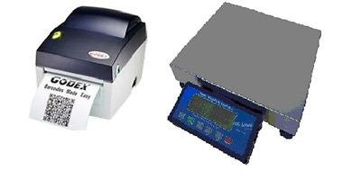 Scale Weighing Systems SWS-PS-60-Plus 150 Lb NTEP Legal For Trade Shipping Scale & GoDEX Printer