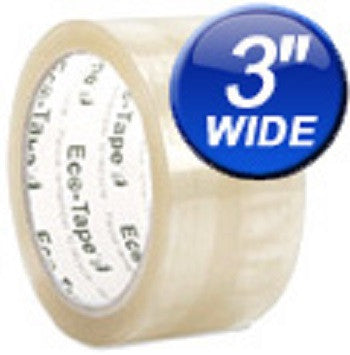 "3"" Clear Carton Sealing Eco Tape Various Quantities Available - Solutionsgem"