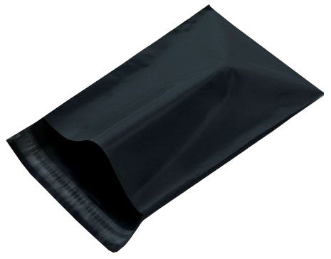 "#1 Black Poly Mailer Bags 6"" X 9"" Various Quantities Available"