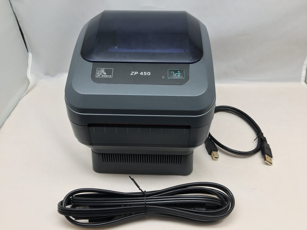 Refurbished Zebra ZP450 Thermal Label Printer With Adjustable Arms