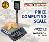 DWP-60PC-H 60 Lb NTEP Legal For Trade Price Computing Scale With Pole