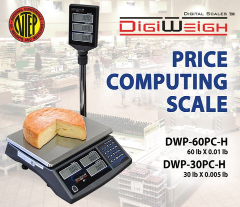 DWP-30PC-H 30 Lb NTEP Legal For Trade Price Computing Scale With Pole